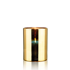 HURRICANE LAMP MEDIUM GOLD
