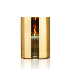HURRICANE LAMP LARGE GOLD