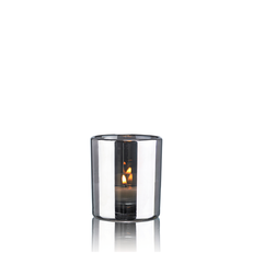 HURRICANE LAMP SMALL SILVER